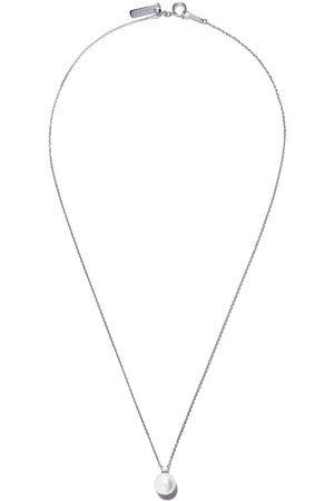 Tasaki 18kt white gold Basic Akoya pearl and diamond pendant necklace