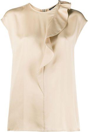 Armani Dames Blouses - Silk ruffle trim blouse