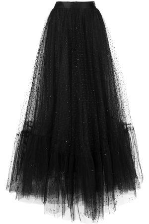 Marchesa Sheer skirt gown