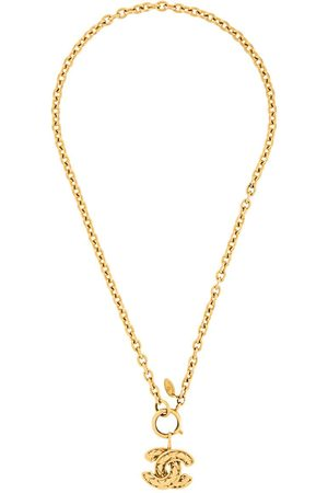 CHANEL 1980s Chanel Quilted Pendant