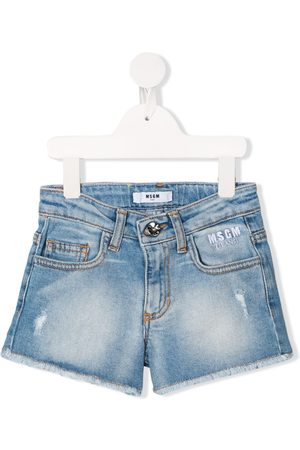 Msgm Meisjes Shorts - Distressed denim shorts