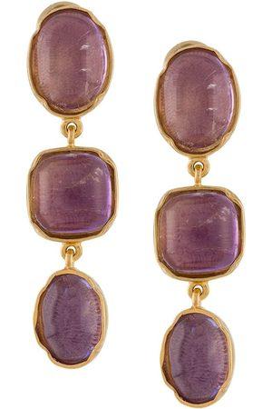 Goossens Three Cabochons clip earrings