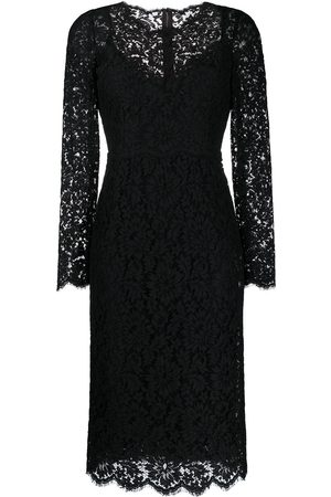 Dolce & Gabbana Dames Feestjurken - Floral lace long-sleeve dress