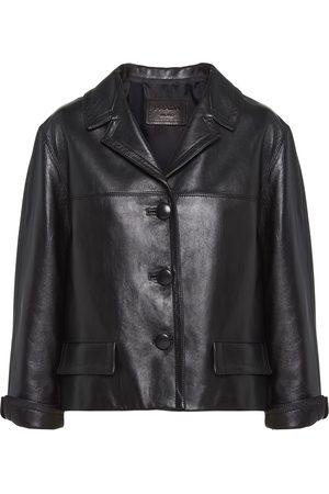 Prada Boxy leather jacket