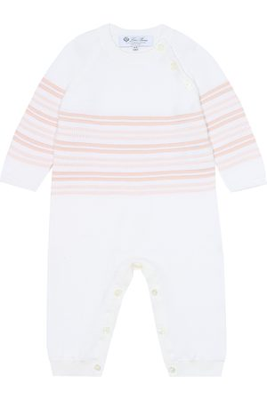 Loro Piana Baby striped cotton onesie
