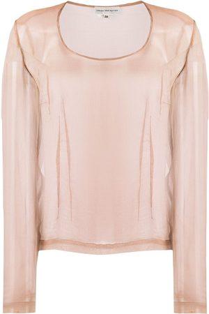 Dries Van Noten Pre-Owned 1990s sheer blouse