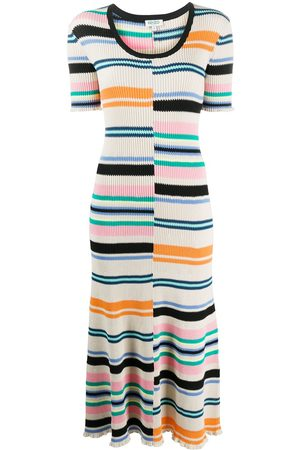 Kenzo Mismatched stripe knitted dress