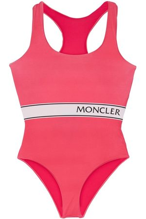 Moncler Logo Print One Piece Swimsuit
