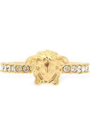 VERSACE Slim Medusa Palazzo Crystal Ring