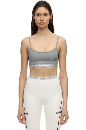 OFF-WHITE Logo Techno Jersey Crop Top