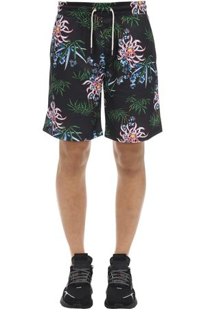 Kenzo Allover Flowers Print Nylon Shorts