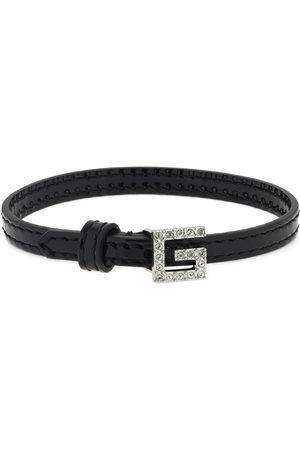 Gucci Leather Bracelet W/ Square G Detail