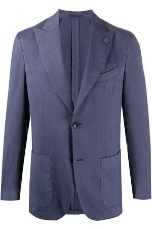 LARDINI Fine knit buttoned blazer