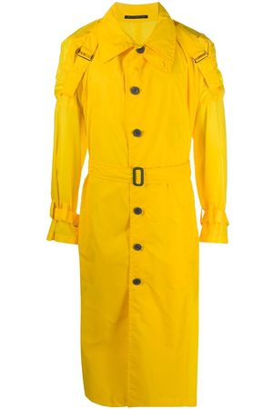 YOHJI YAMAMOTO Buckle detail buttoned trench coat