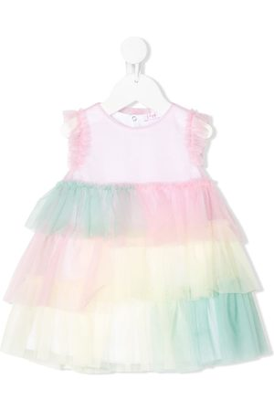 Il gufo Sleeveless layered tulle dress