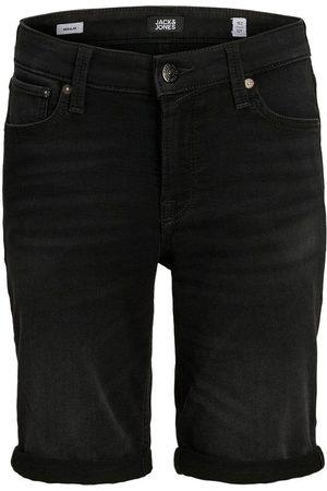 Jack & Jones Heren Shorts - Jongens Indigo Knit Denim Short Heren Zwart