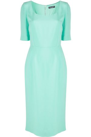 Dolce & Gabbana Dames Feestjurken - U-neck fitted midi dress