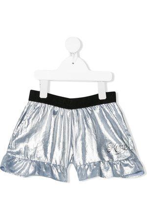 Kenzo Kids Ruffle-trimmed metallic shorts