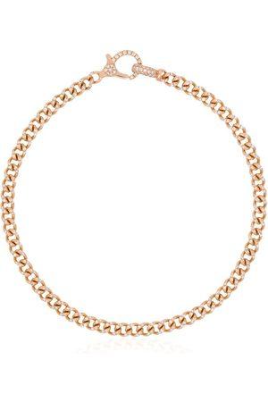 Shay 18K rose gold baby pavé diamond link bracelet