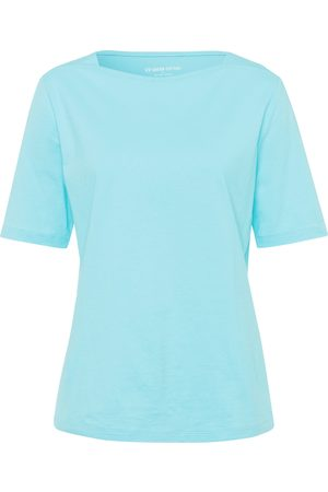Green Cotton Shirt 100% katoen boothals Van turquoise