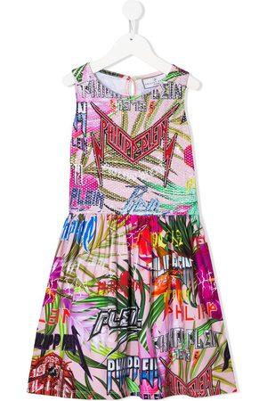 Philipp Plein Jungle Rock embellished dress