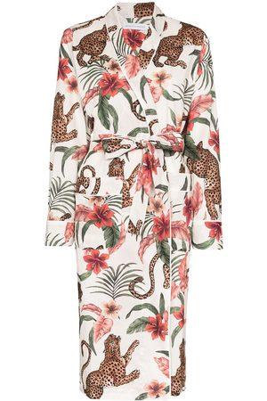 Desmond & Dempsey Soleia long organic cotton robe