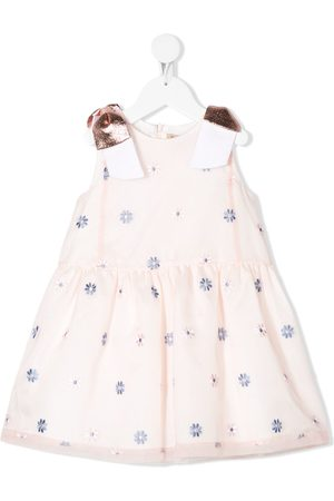 HUCKLEBONES LONDON Dropped waist bodice dress