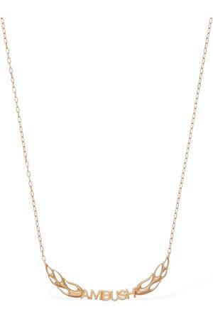 AMBUSH Flame Logo Chain Necklace