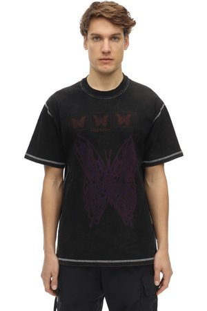 UNITED STANDARD Butterfly Acid Cotton Jersey T-shirt