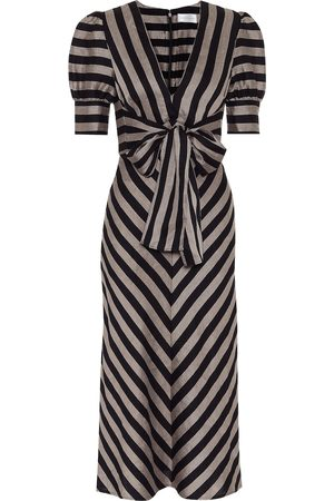 Rebecca Vallance Nautique striped midi dress