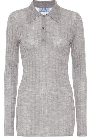 Prada Cashmere and silk polo shirt