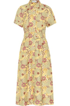 Rebecca Vallance Sahara floral linen-blend midi dress