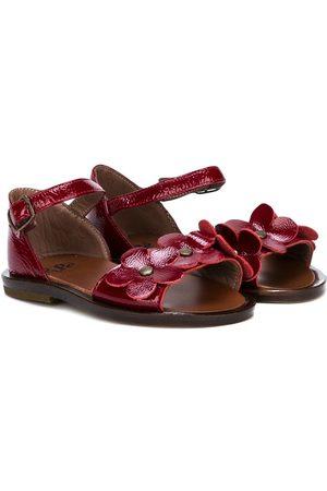 PèPè Flower applique open toe sandals