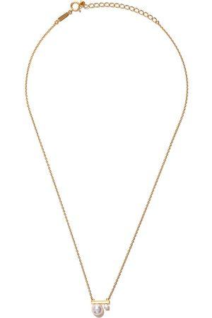Tasaki 18kt yellow gold petit Balance Class Akoya pearl and diamond pendant necklace