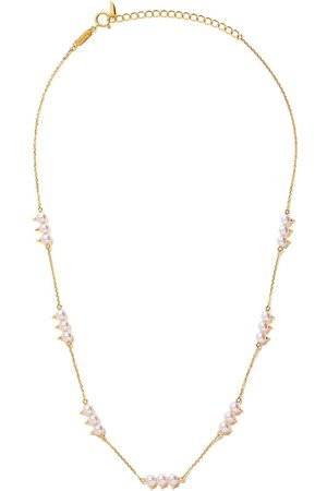 Tasaki 18kt yellow gold Danger Collection Line Akoya pearl necklace