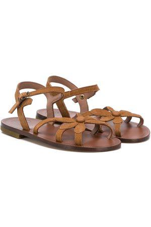 PèPè Floral strap open toe sandals