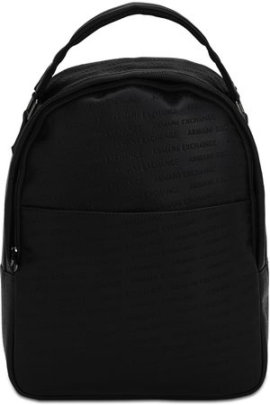 Armani Embossed Faux Leather Backpack