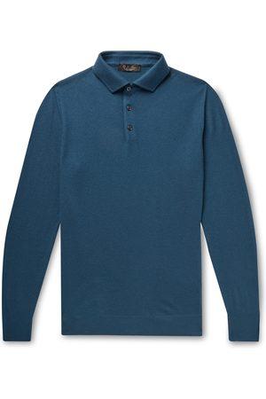 Loro Piana Heren Poloshirts - Baby Cashmere Polo Shirt