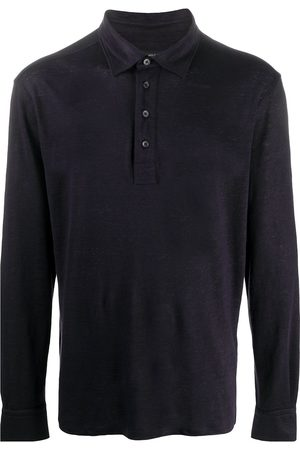Ermenegildo Zegna Long-sleeved burnout polo shirt