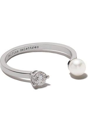 DELFINA DELETTREZ 18kt Domino Pearl Dots ring