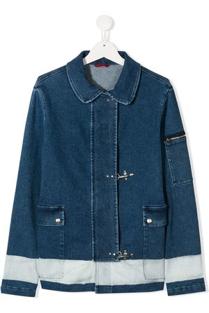 FAY KIDS TEEN concealed fastening denim jacket