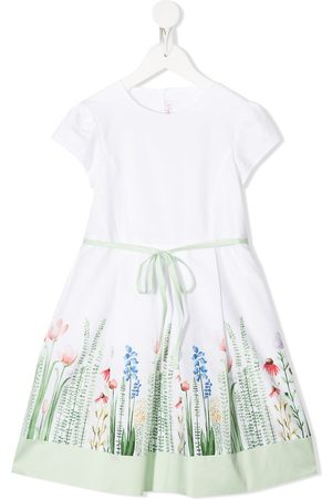 Il gufo Floral-print cotton dress