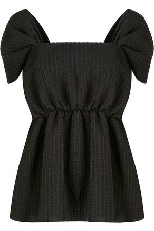GOEN.J Seersucker striped blouse
