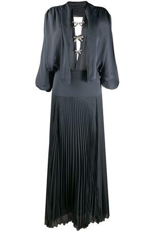 Chloé Crystal-embellished open back dress