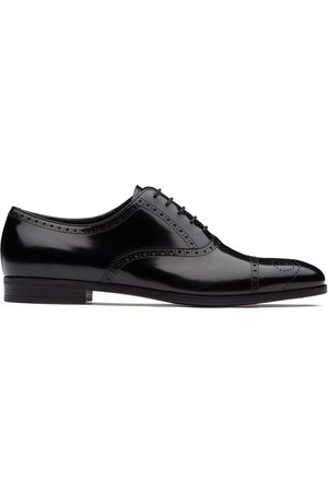 Prada Brushed fumé leather Oxford shoes