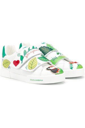 Dolce & Gabbana Meisjes Sneakers - Tropical motif sneakers