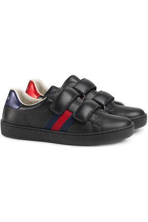 Gucci Jongens Sneakers - Children's leather sneaker with Web