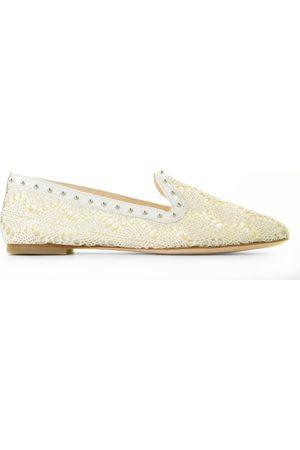 AGL ATTILIO GIUSTI LEOMBRUNI Dames Loafers - D554016 Off-White/Zilver