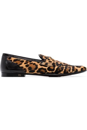 Dolce & Gabbana Heren Loafers - Erice leopard print loafers