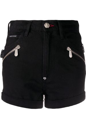 Philipp Plein Zipped detail denim shorts